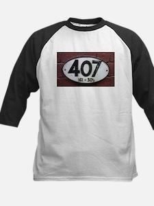 Railway sign 407 Kids Baseball Jersey