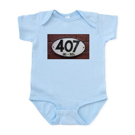 Railway sign 407 Infant Bodysuit