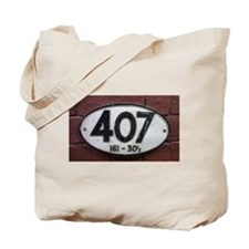Railway sign 407 Tote Bag