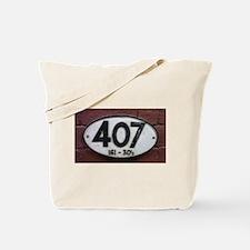 Railway sign 407 Tote Bag