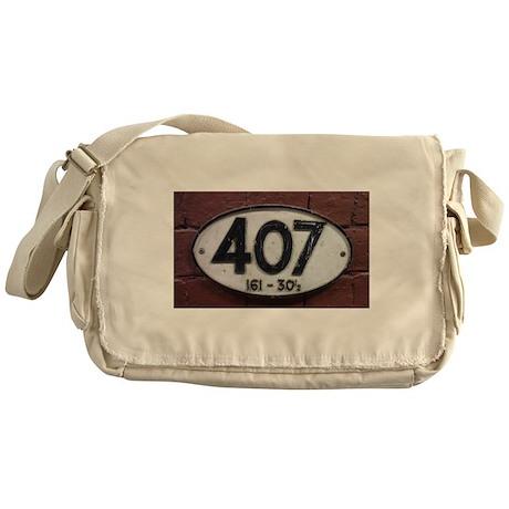 Railway sign 407 Messenger Bag