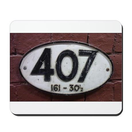 Railway sign 407 Mousepad
