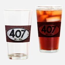 Railway sign 407 Drinking Glass