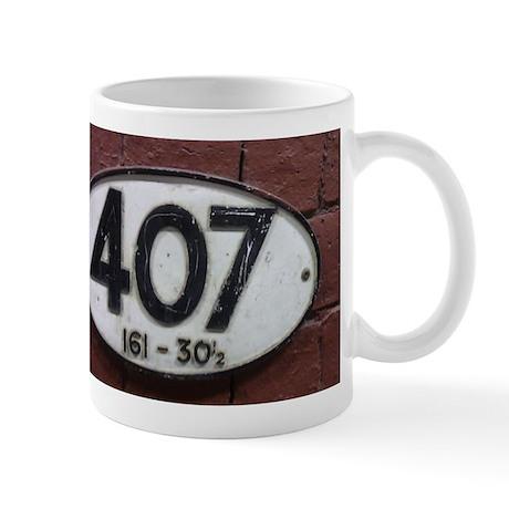 Railway sign 407 Mug