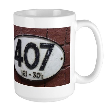 Railway sign 407 Large Mug