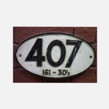 Railway sign 407 Rectangle Magnet