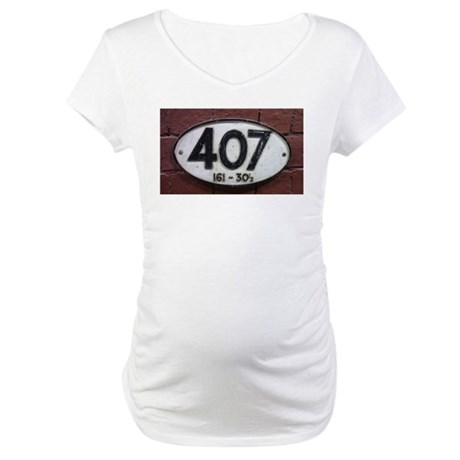 Railway sign 407 Maternity T-Shirt