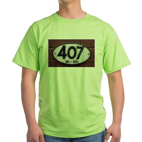 Railway sign 407 Green T-Shirt