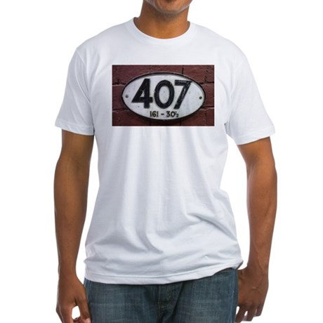 Railway sign 407 Fitted T-Shirt