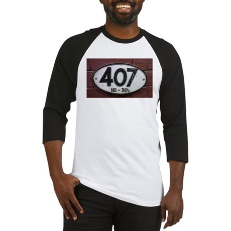 Railway sign 407 Baseball Jersey