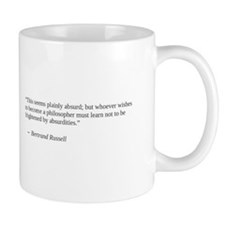 Bertand Russell on absurdity and philosophy Mug
