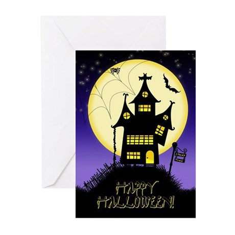 Spooky Halloween 1 Greeting Cards (Pk of 20)