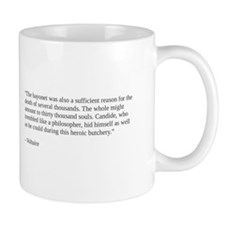 Voltaire on philosophy and war Mug