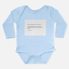 Voltaire on optimism Long Sleeve Infant Bodysuit