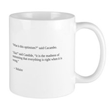 Voltaire on optimism Mug