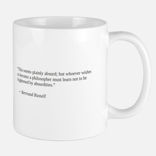 Bertand Russell on the absurdity of philosophy Mug