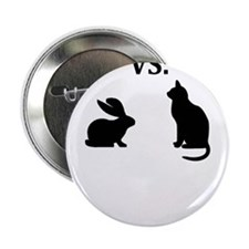 "bunny vs cat 2.25"" Button"
