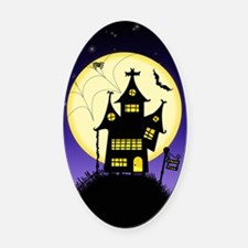 Spooky Halloween 1 Oval Car Magnet