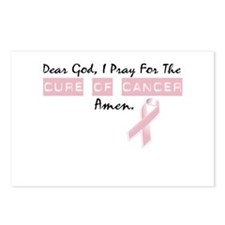 Dear God I Pray For The Cure of Cancer Postcards (