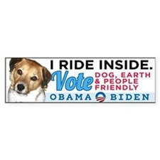 I RIDE INSIDE - CHARLIE Bumper Sticker