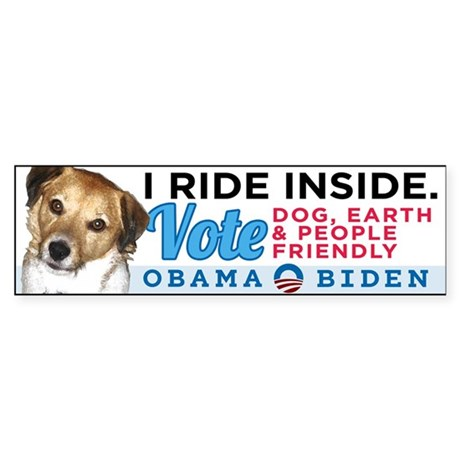 I RIDE INSIDE - CHARLIE Sticker (Bumper)