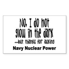 Navy Nuclear Power Rectangle Decal