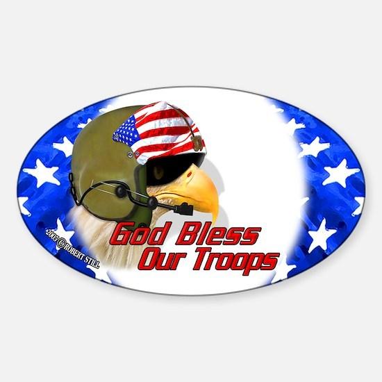 American Helo Eagle Oval Decal