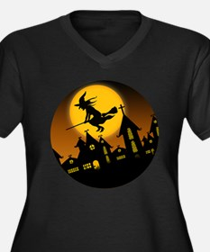 Spooky Halloween 2 Women's Plus Size V-Neck Dark T