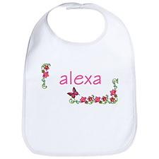 Butterfly & Flowers Alexa Bib