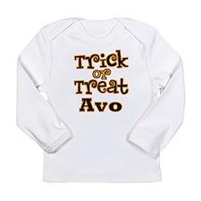 Trick or Treat Avo Long Sleeve Infant T-Shirt