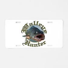 Walleye hunter 3 Aluminum License Plate
