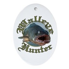 Walleye hunter 3 Ornament (Oval)