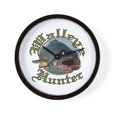 Walleye hunter 3 Wall Clock