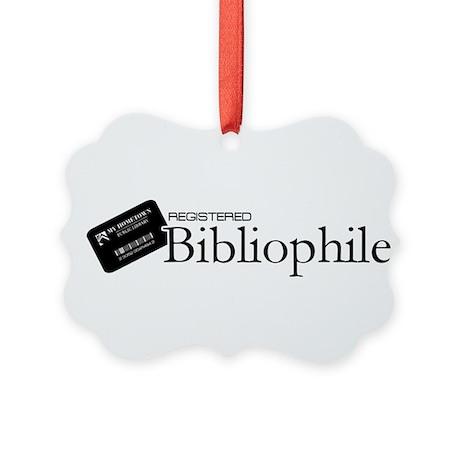 Registered Bibliophile Picture Ornament