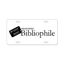 Registered Bibliophile Aluminum License Plate
