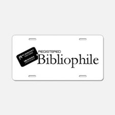 Registered Bibliophile Aluminum License Plate