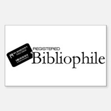 Registered Bibliophile Decal