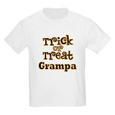 Trick or Treat Grampa Kids Halloween T-Shirt