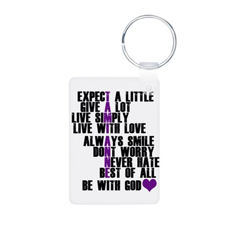 Tami Anne Rules Aluminum Photo Keychain