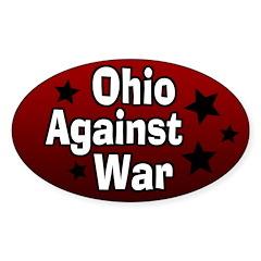 Ohio Against War Oval Bumper Decal