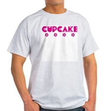 Cupcake Blooms Ash Grey T-Shirt