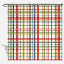 Mountain Plaid Print Shower Curtain