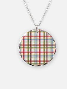 Mountain Plaid Print Necklace