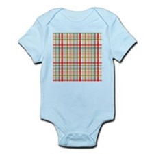 Mountain Plaid Print Infant Bodysuit