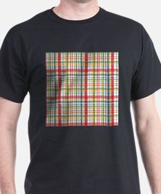 Mountain Plaid Print T-Shirt