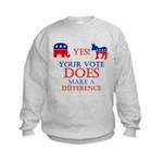 Your Vote Counts Kids Sweatshirt