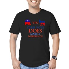 Your Vote Counts Men's Fitted T-Shirt (dark)