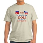 Your Vote Counts Light T-Shirt