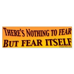 Nothing to Fear but Fear Bumper Bumper Sticker