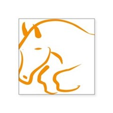 """jumping horse Square Sticker 3"""" x 3"""""""